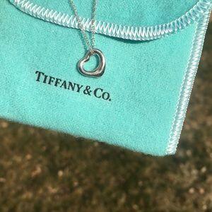 Tiffany & co. open heart necklace *elsa peretti*